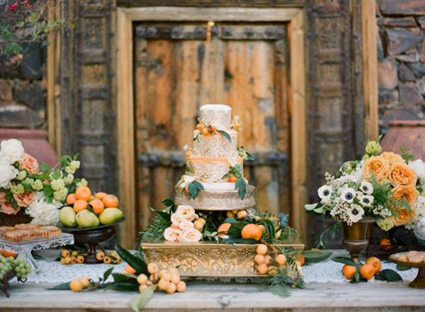 wedding cake invernale con agrumi