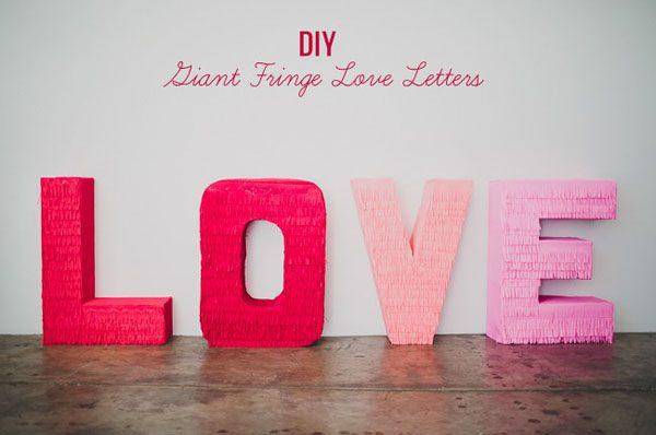 DIY: Lettere oversize fai da te