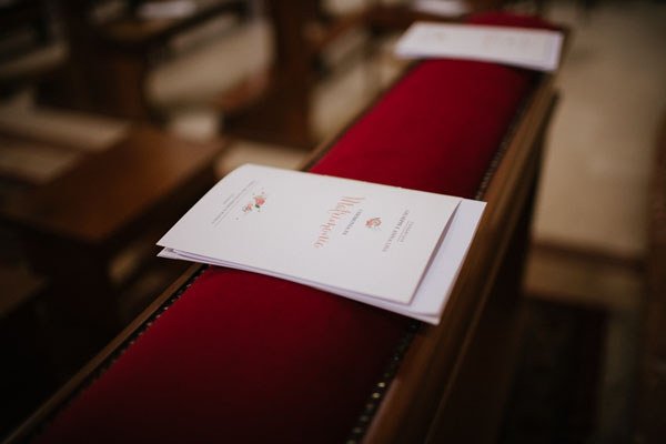 libretti cerimonia bianchi e corallo