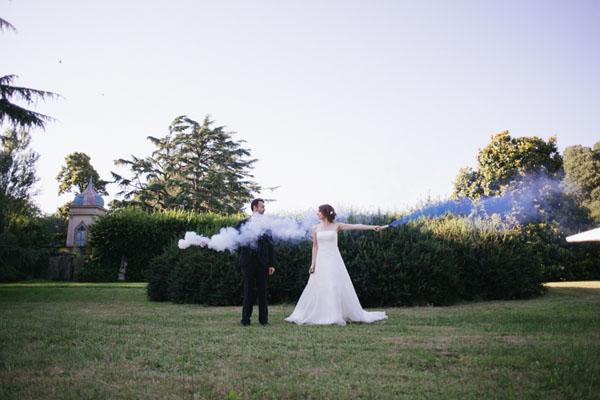 fumogeni per le foto di nozze