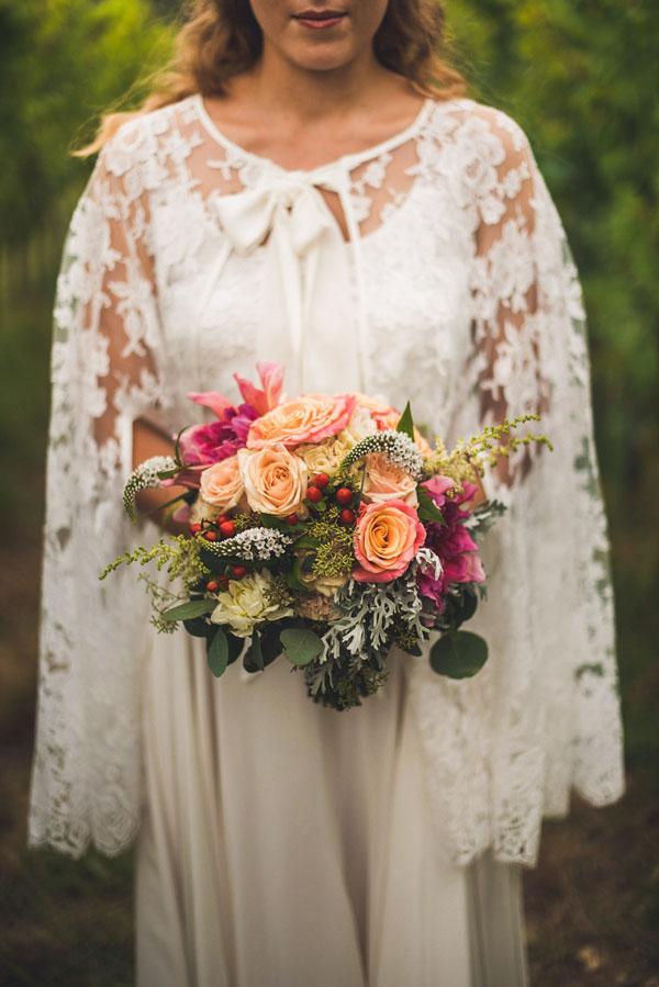 bouquet boho chic autunnale