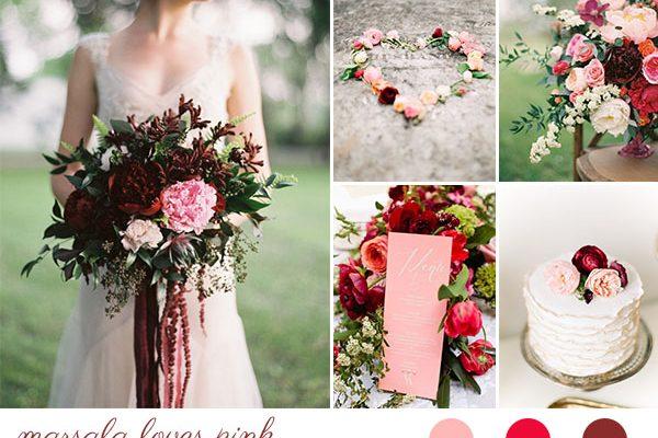 Inspiration board: Marsala e rosa cipria