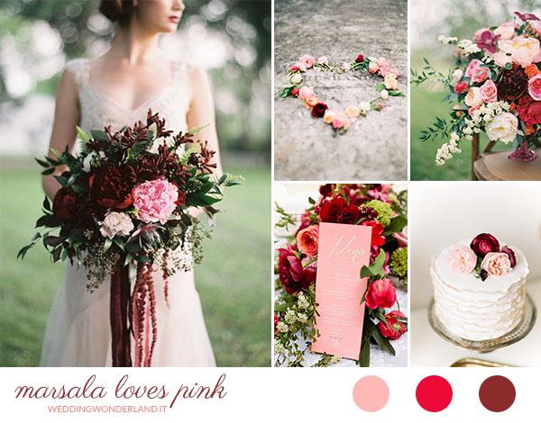 matrimonio marsala e rosa | wedding wonderland