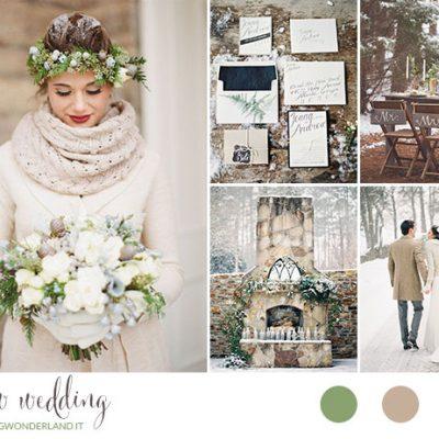 Inspiration board: Matrimonio nella neve