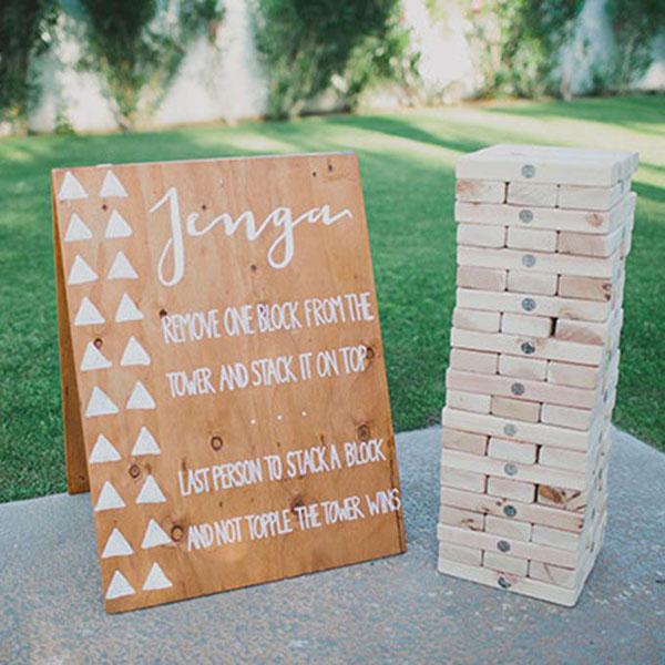 giochi da tavolo matrimonio | jenga | intrattenimento