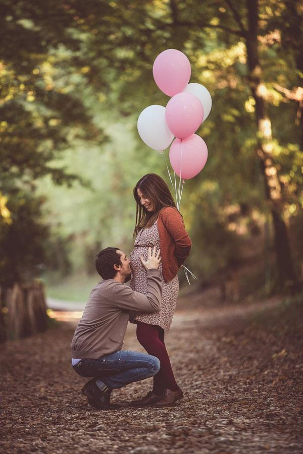 maternity session con palloncini