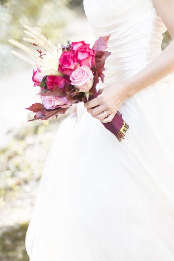 bouquet rosa fucsia e marsala