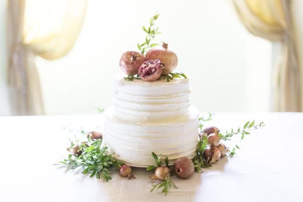 torta autunnale con melograni