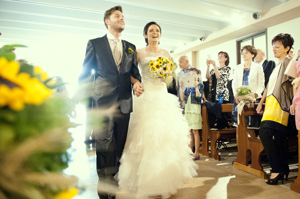 Bomboniere Girasoli Matrimonio : Matrimonio country chic con girasoli e limoni