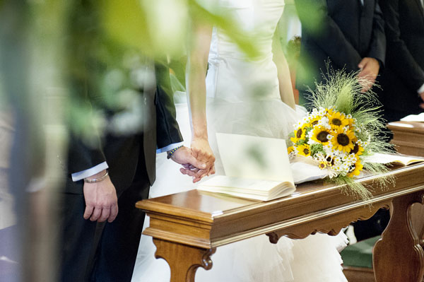 Girasoli Finti Matrimonio : Matrimonio country chic con girasoli e limoni