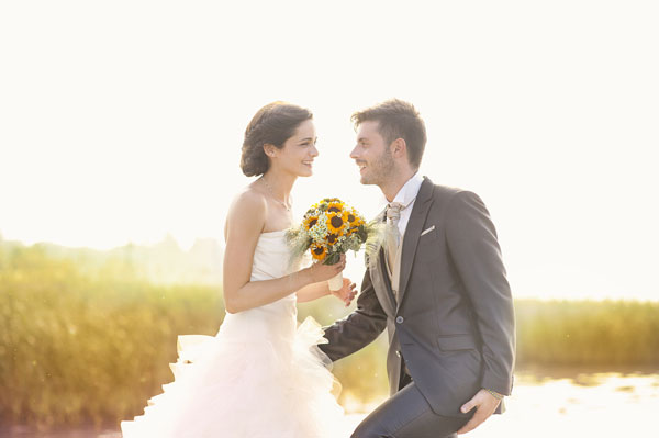 matrimonio country chic con girasoli