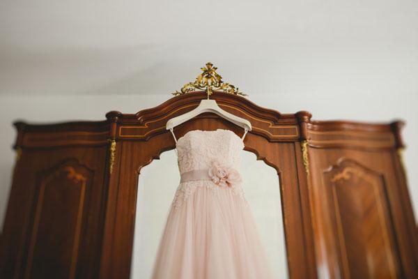 abito da sposa nicole spose rosa cipria