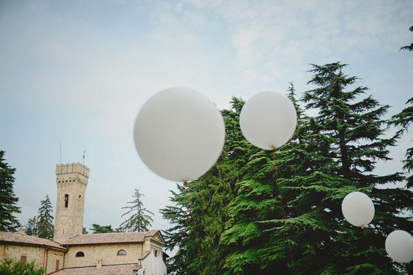 allestimento matrimonio con palloncini