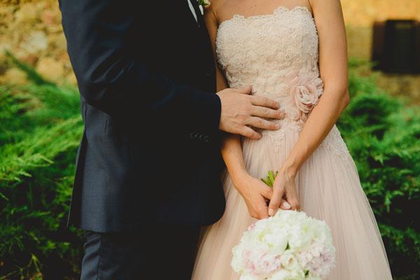 abito da sposa rosa cipria nicole spose