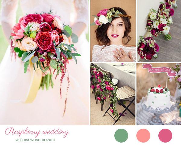 matrimonio lampone e verde | wedding wonderland