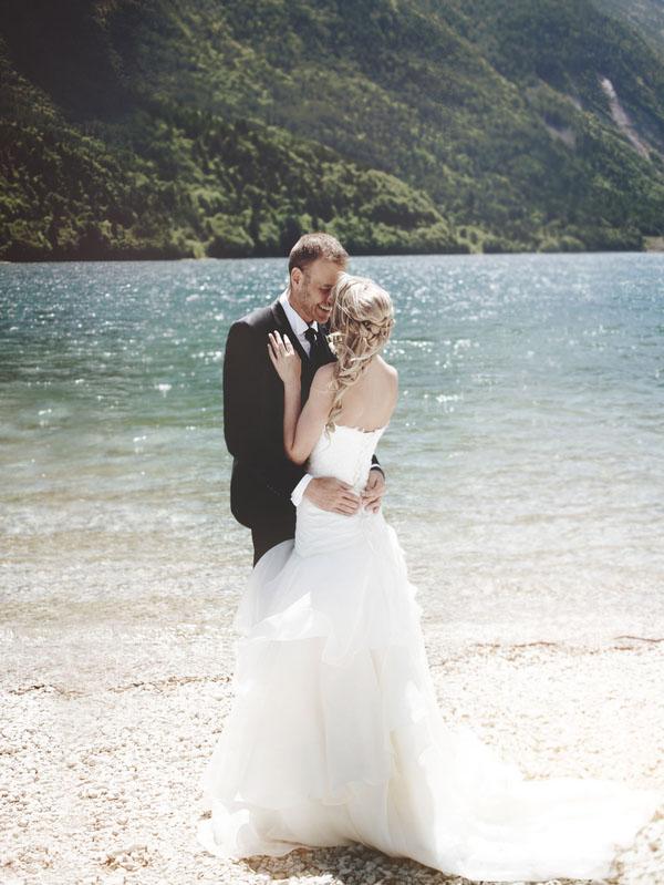 matrimonio sul lago di toblino