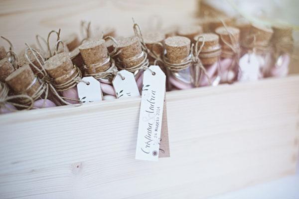 confetti per matrimonio in provette