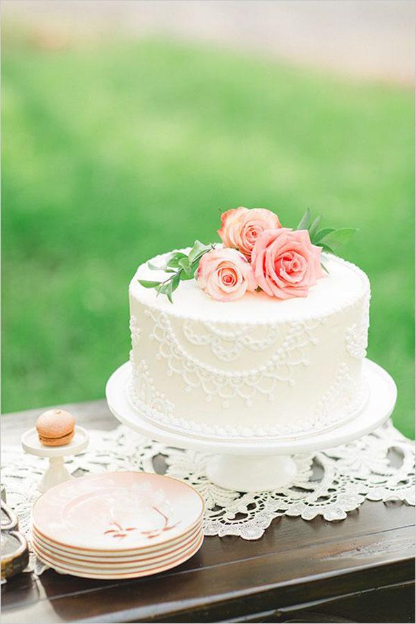 torta matrimonio effetto pizzo