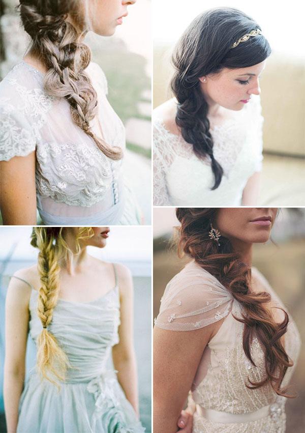 treccia bohemien per la sposa