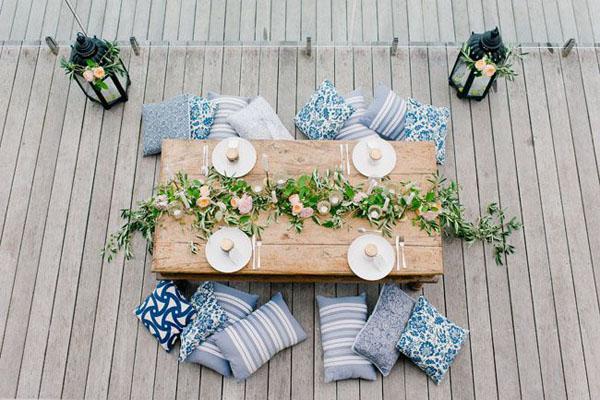 angolo picnic per matrimonio bohemien
