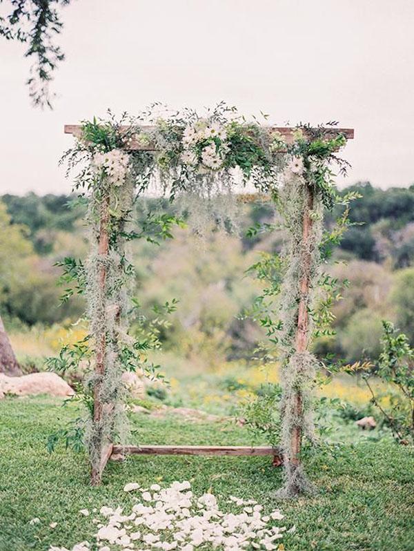 arco nuziale per matrimonio bohemien