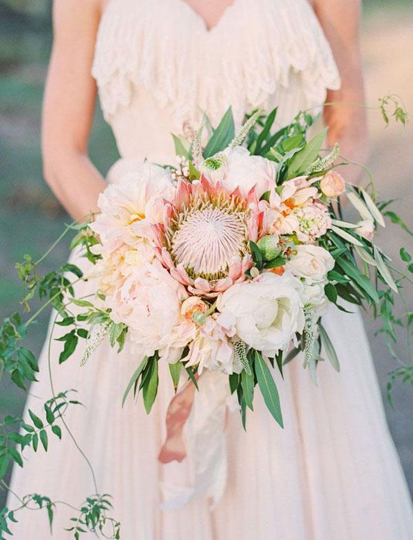 bouquet per matrimonio bohemien