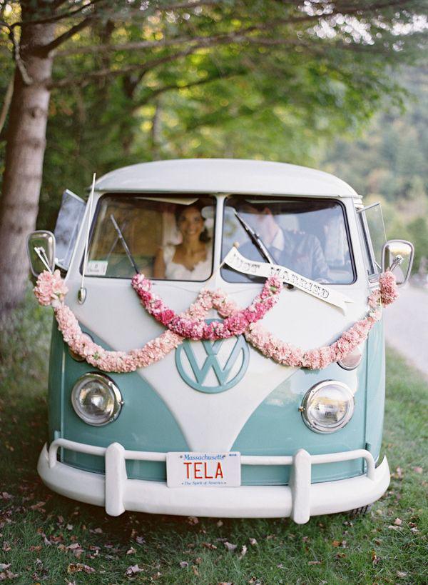 furgone volkswagen per matrimonio bohemien