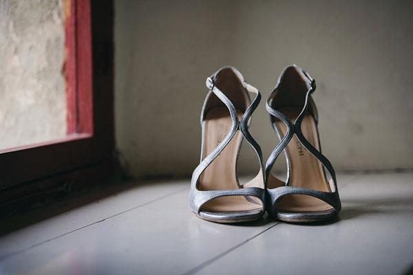 scarpe da sposa argento