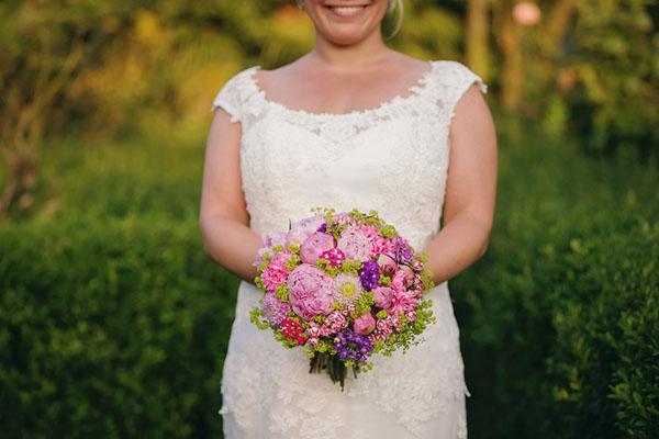 bouquet rosa, fucsia e viola