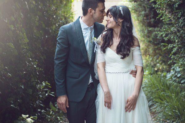 Un abito Jenny Packham per un matrimonio tutto bianco