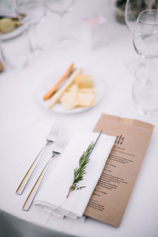 menu matrimonio in carta kraft