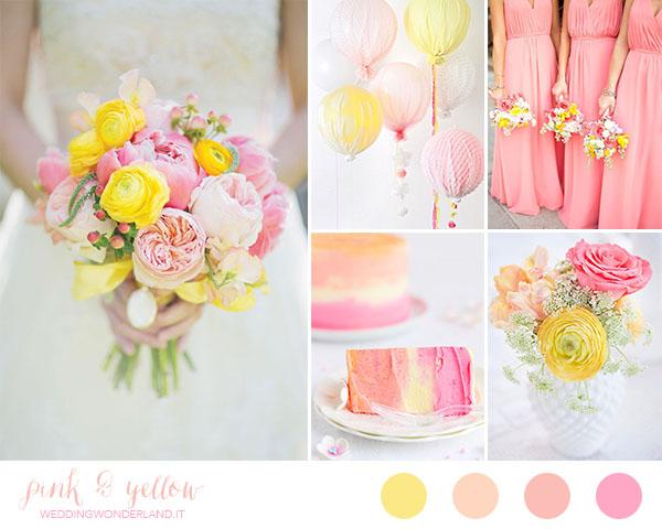 Matrimonio Tema Giallo : Matrimonio rosa e giallo