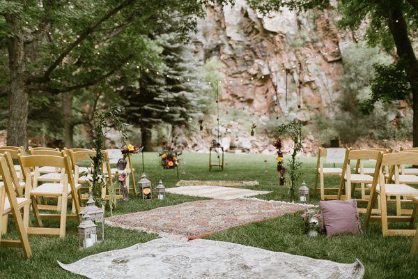 tappeti per matrimonio bohemien
