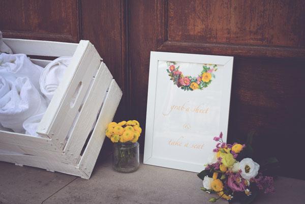 cartello picnic matrimonio