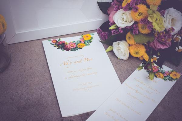 inviti matrimonio con fiori