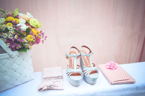 scarpe da sposa azzurre
