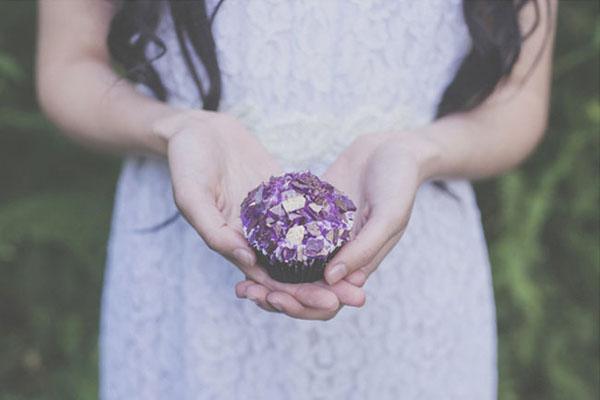 cupcake con cristalli di zucchero