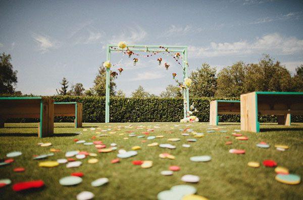 15 idee per usare i coriandoli al vostro matrimonio