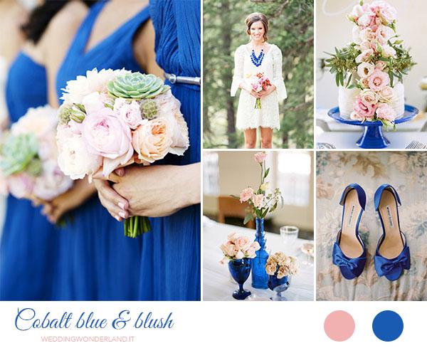 Matrimonio Tema Rosa Cipria : Matrimonio blu cobalto e rosa cipria inspiration board