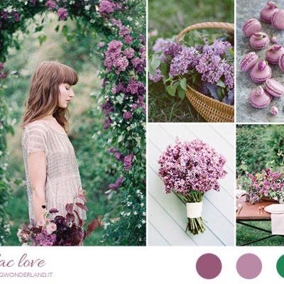 Inspiration board: lilla e verde smeraldo