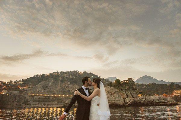 Un matrimonio nautico a Taormina