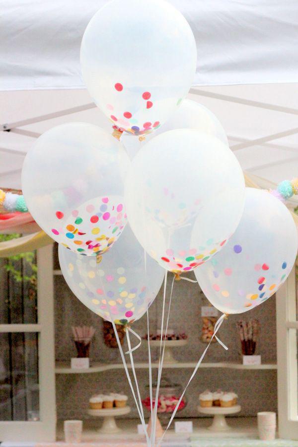 palloncini con coriandoli