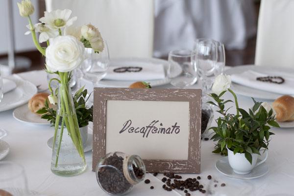 Bomboniere Matrimonio Tema Natalizio : Un matrimonio a tema caffè