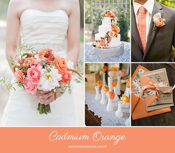 matrimonio autunnale arancione | pantone cadmium orange