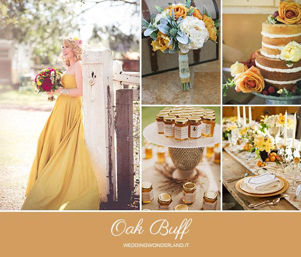 matrimonio autunnale color miele | pantone oak buff