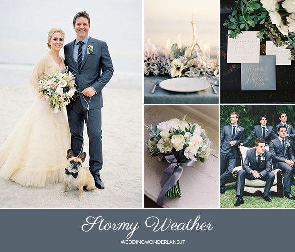 matrimonio autunnale grigio blu | pantone stormy weather