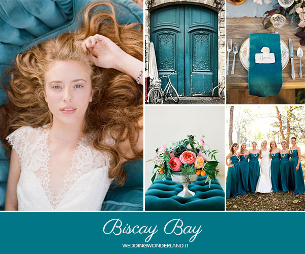 matrimonio autunnale petrolio | pantone biscay bay