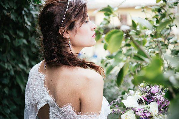 Lavanda e piante succulente per un matrimonio boho-chic