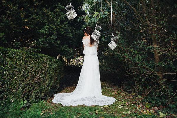 allestimento matrimonio con gabbiette