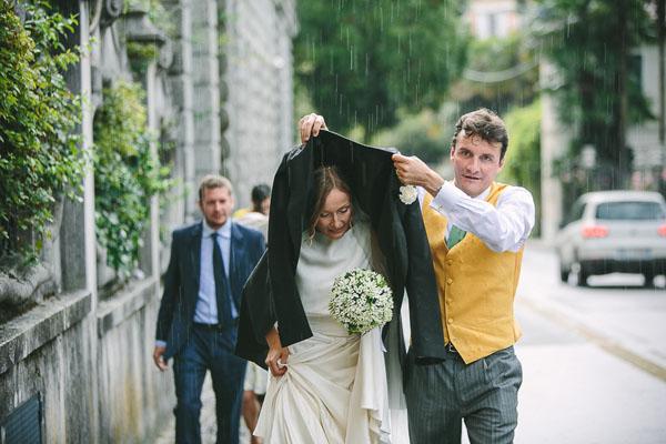 matrimonio sotto la pioggia